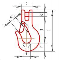 рюк цепной с вилочным соединением